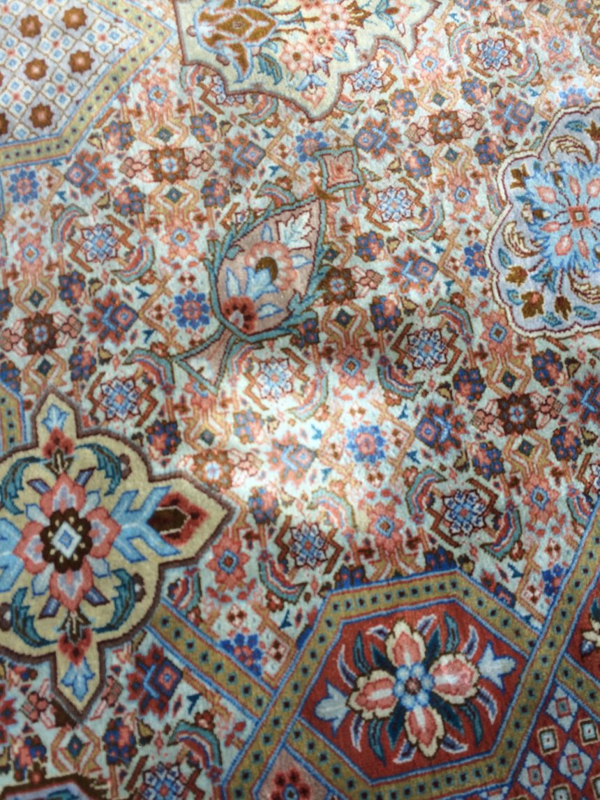Spot cleaning for rugs